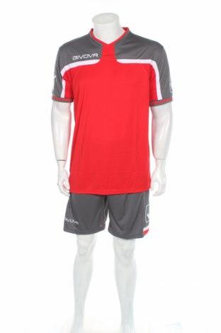 Мъжки спортен комплект Givova, Размер L, Цвят Сив, Полиестер, Цена 23,60лв.