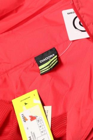 Мъжко спортно горнище Diadora, Размер L, Цвят Червен, Полиестер, Цена 24,15лв.