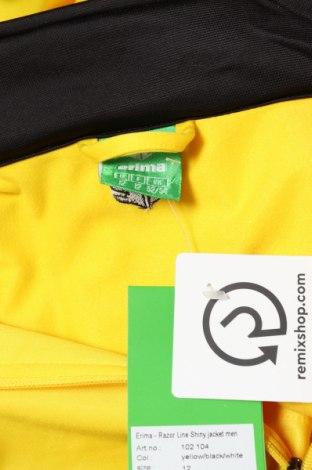 Мъжко спортно горнище Erima, Размер 4XL, Цвят Жълт, Полиестер, Цена 23,70лв.