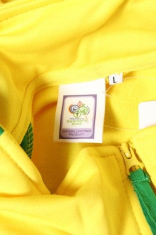 Мъжко спортно горнище Germany, Размер L, Цвят Жълт, Полиестер, Цена 11,70лв.