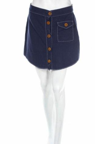 Пола Zara Trafaluc, Размер M, Цвят Син, 45% памук, 35% лиосел, 20% лен, Цена 8,21лв.