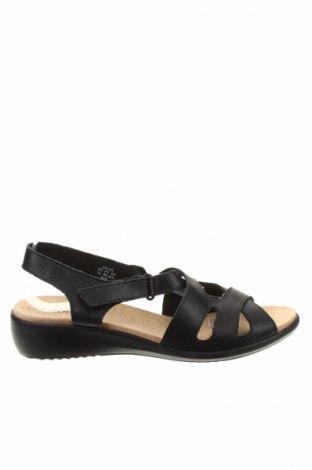 Sandale Hotter, Mărime 41, Culoare Negru, Piele naturală, Preț 142,16 Lei