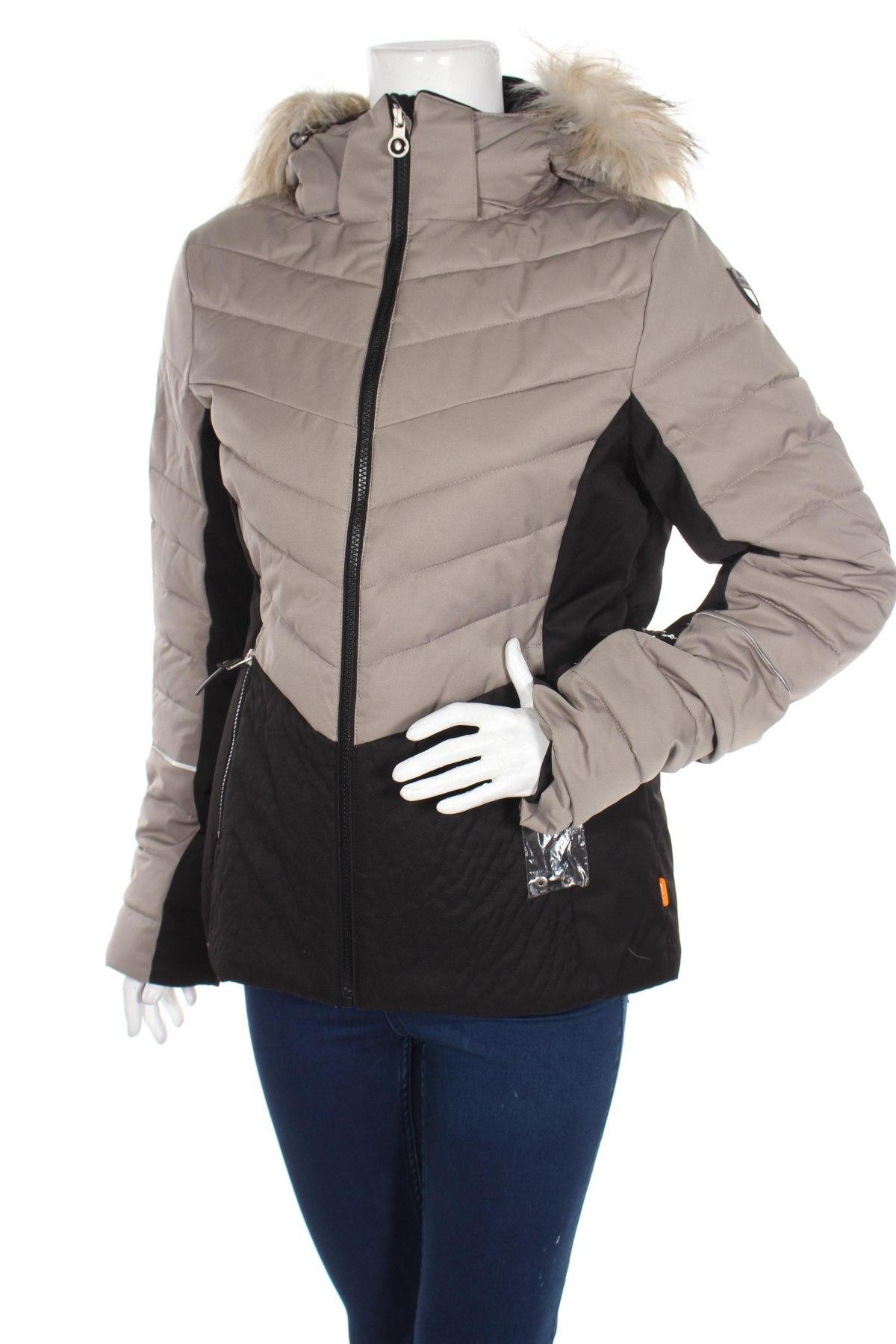 Дамско яке за зимни спортове Icepeak, Размер M, Цвят Бежов, Полиестер, Цена 66,15лв.
