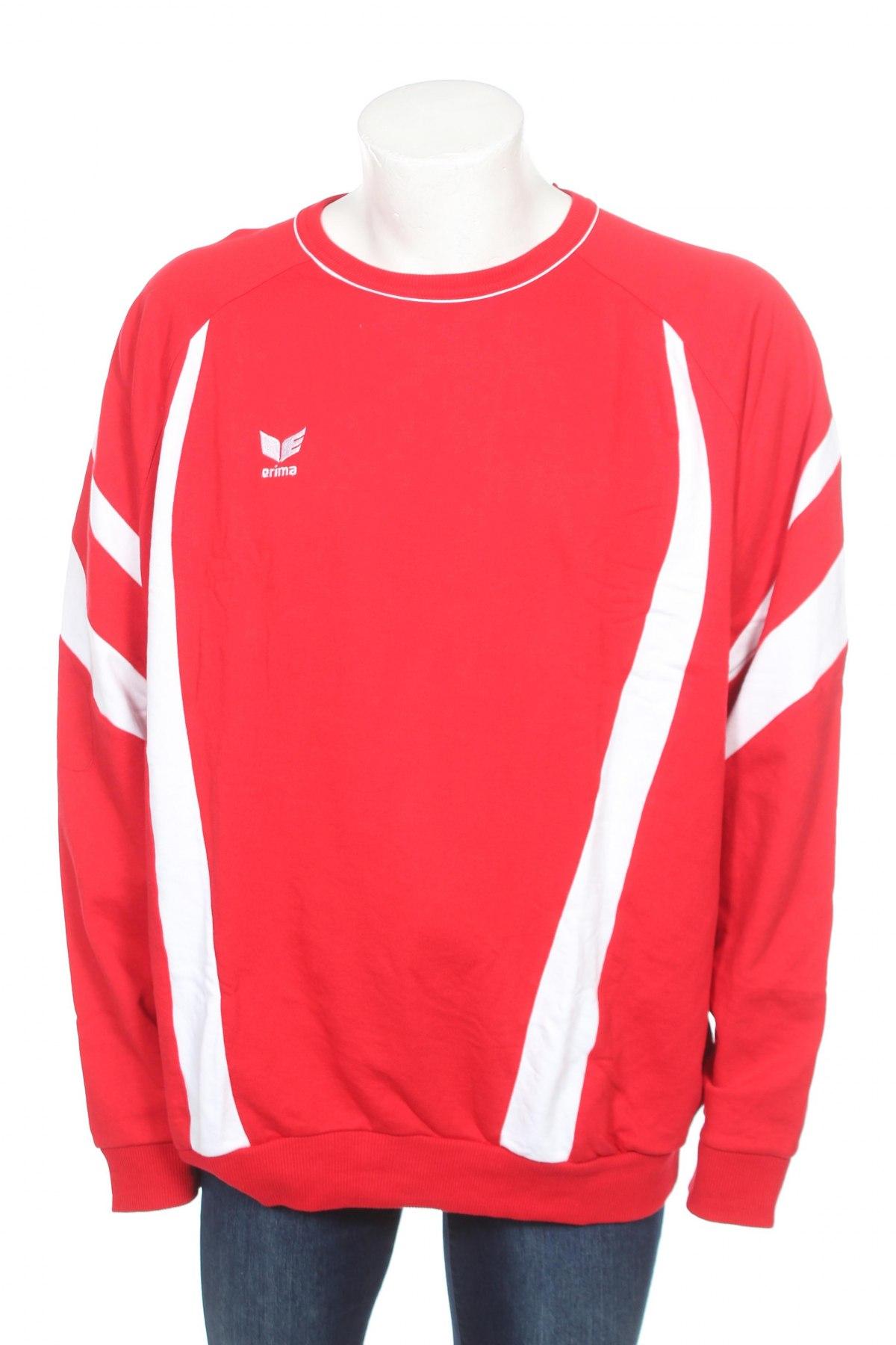 Мъжка блуза Erima, Размер 3XL, Цвят Червен, 80% памук, 20% полиестер, Цена 14,70лв.