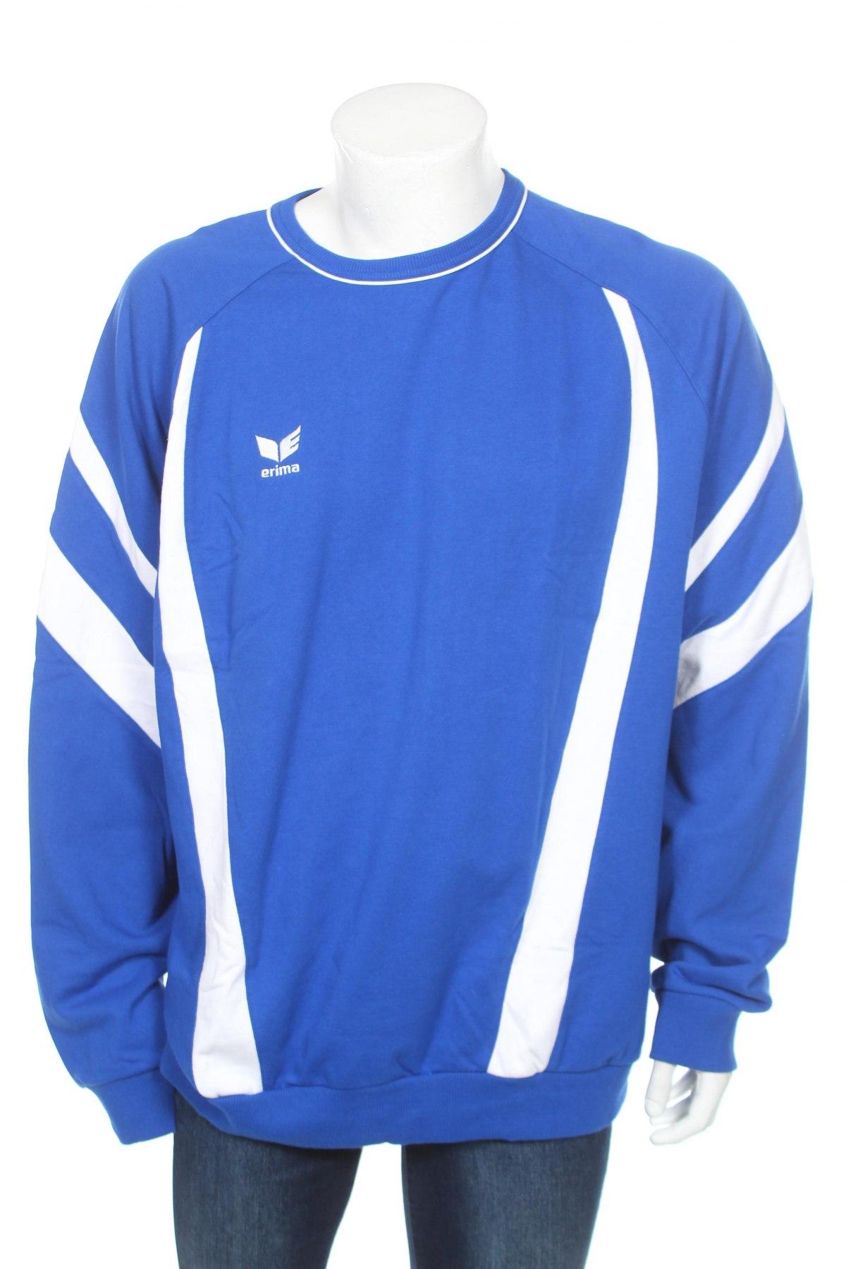 Мъжка блуза Erima, Размер XXL, Цвят Син, 80% памук, 20% полиестер, Цена 17,15лв.