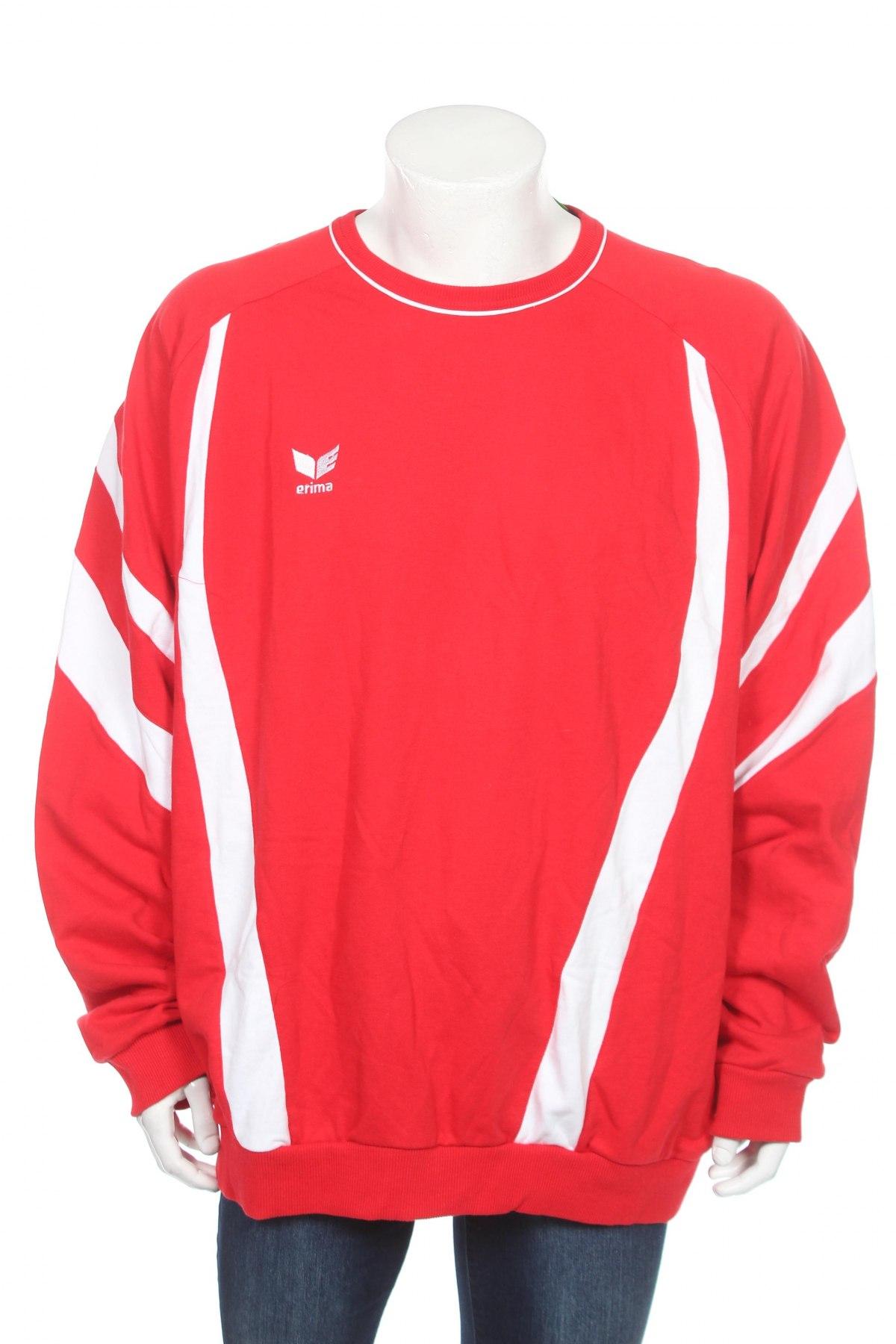 Мъжка блуза Erima, Размер 3XL, Цвят Червен, 80% памук, 20% полиестер, Цена 17,15лв.