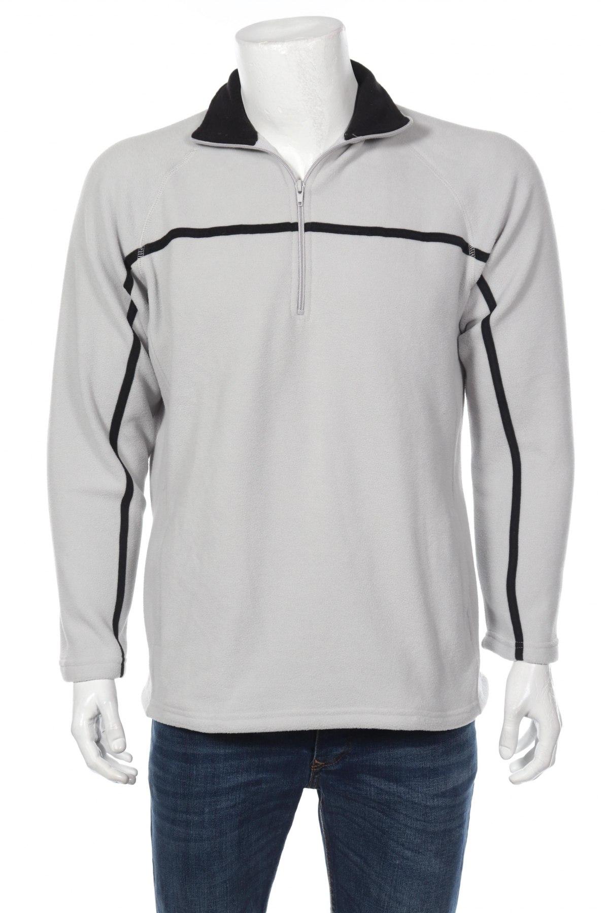 Мъжка поларена блуза, Размер S, Цвят Сив, Полиестер, Цена 12,60лв.