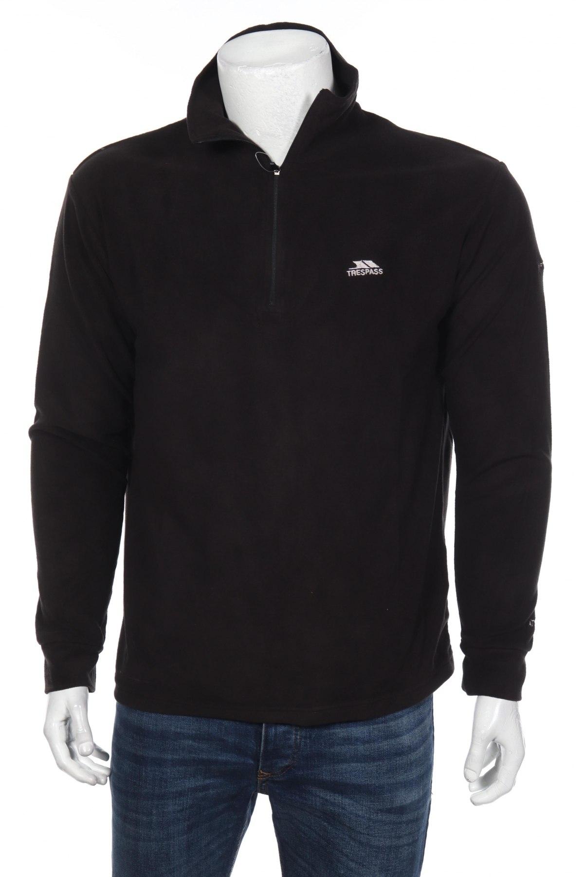 Мъжка поларена блуза Trespass, Размер S, Цвят Черен, 100% полиестер, Цена 20,65лв.