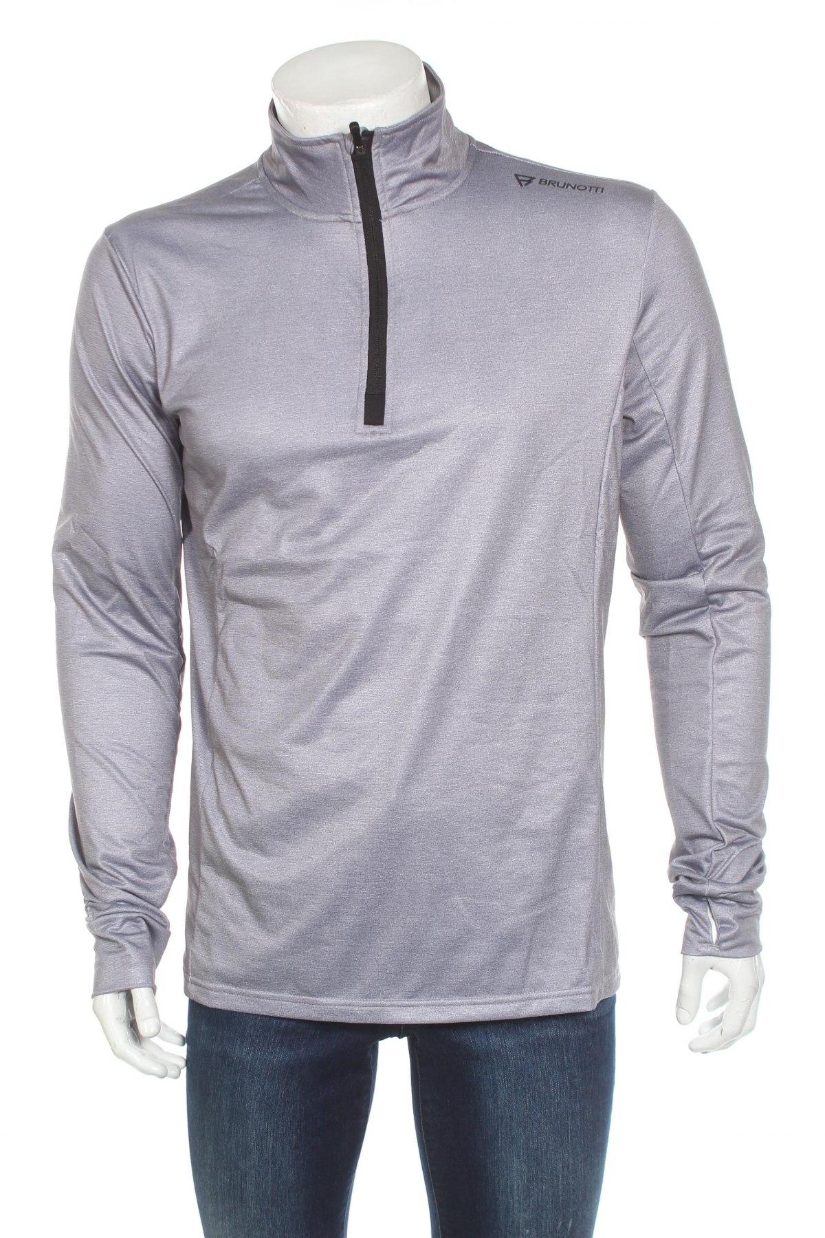 Мъжка спортна блуза Brunotti, Размер XL, Цвят Сив, 92% полиестер, 8% еластан, Цена 44,25лв.