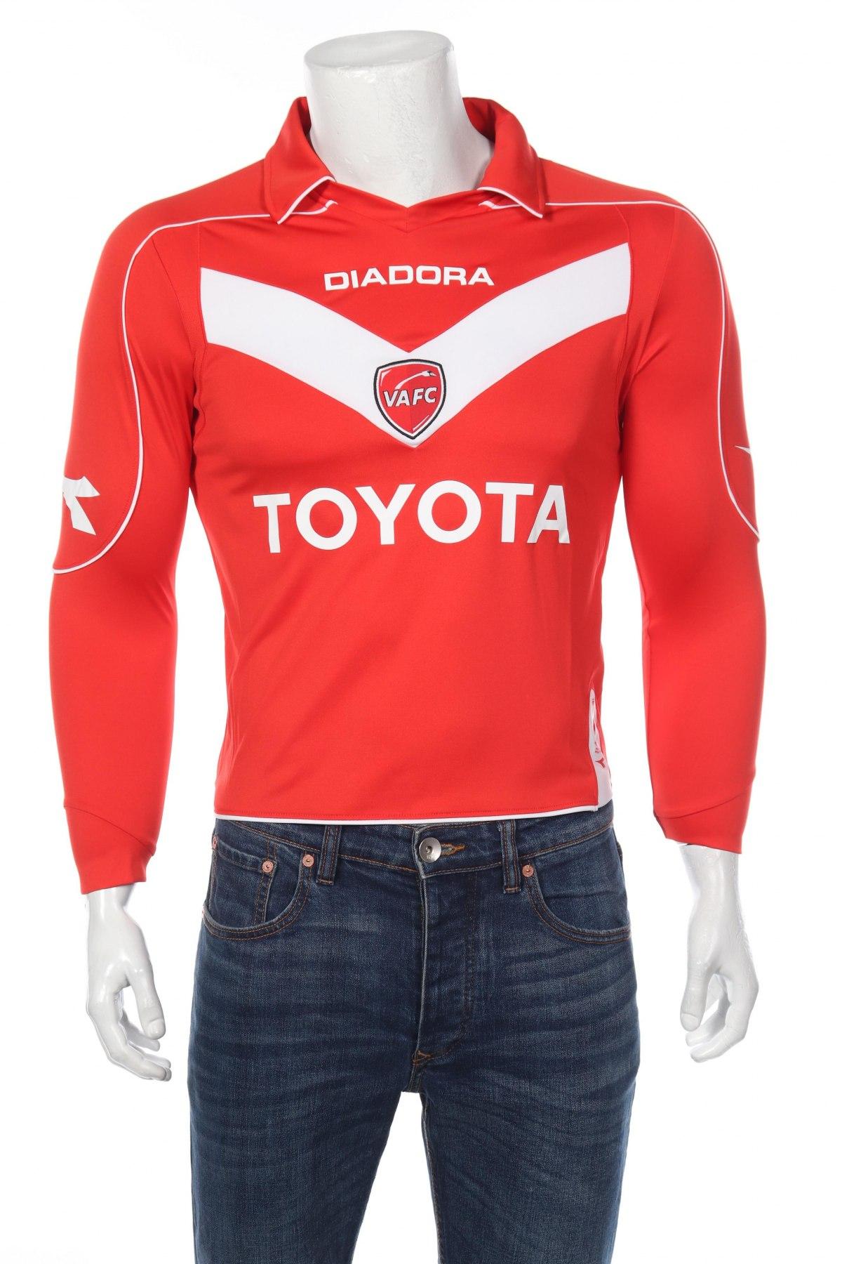 Мъжка спортна блуза Diadora, Размер XS, Цвят Червен, 100% полиестер, Цена 17,15лв.
