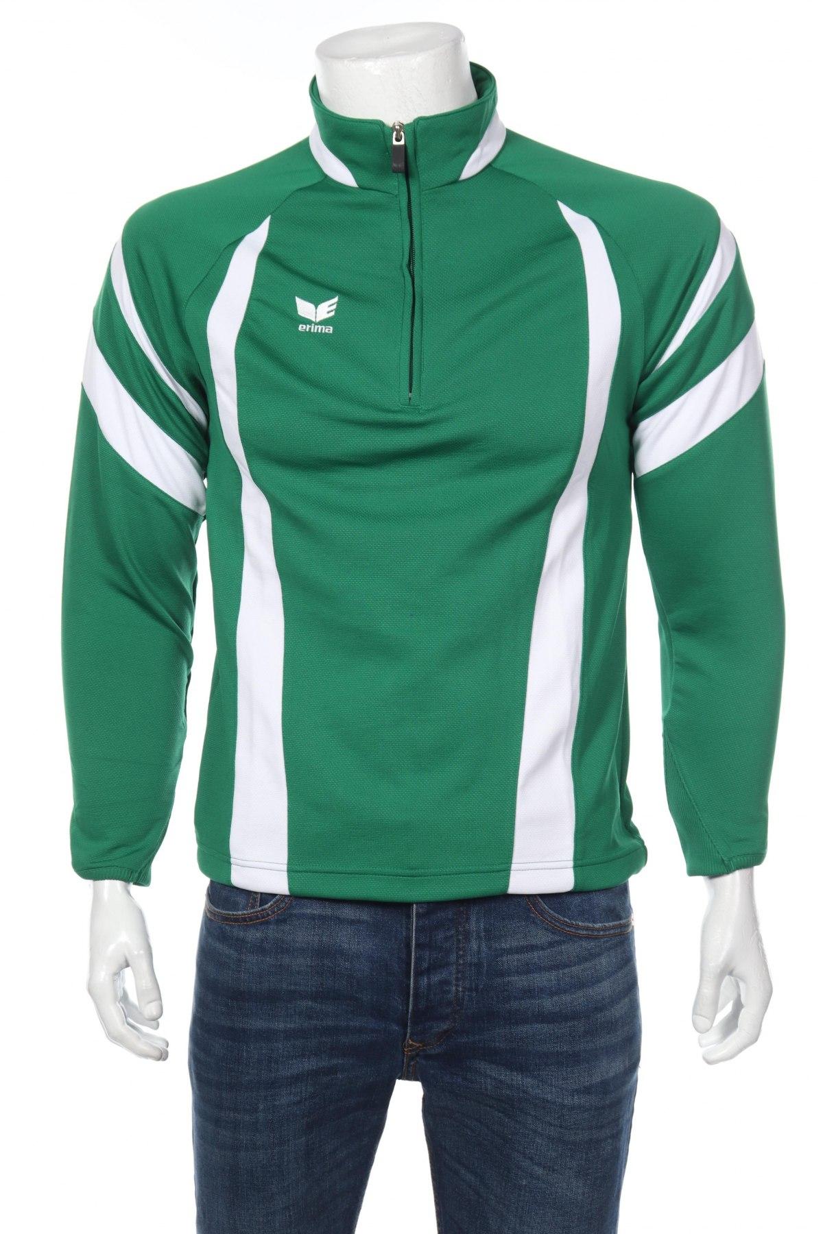 Мъжка спортна блуза Erima, Размер S, Цвят Зелен, 100% полиестер, Цена 16,80лв.