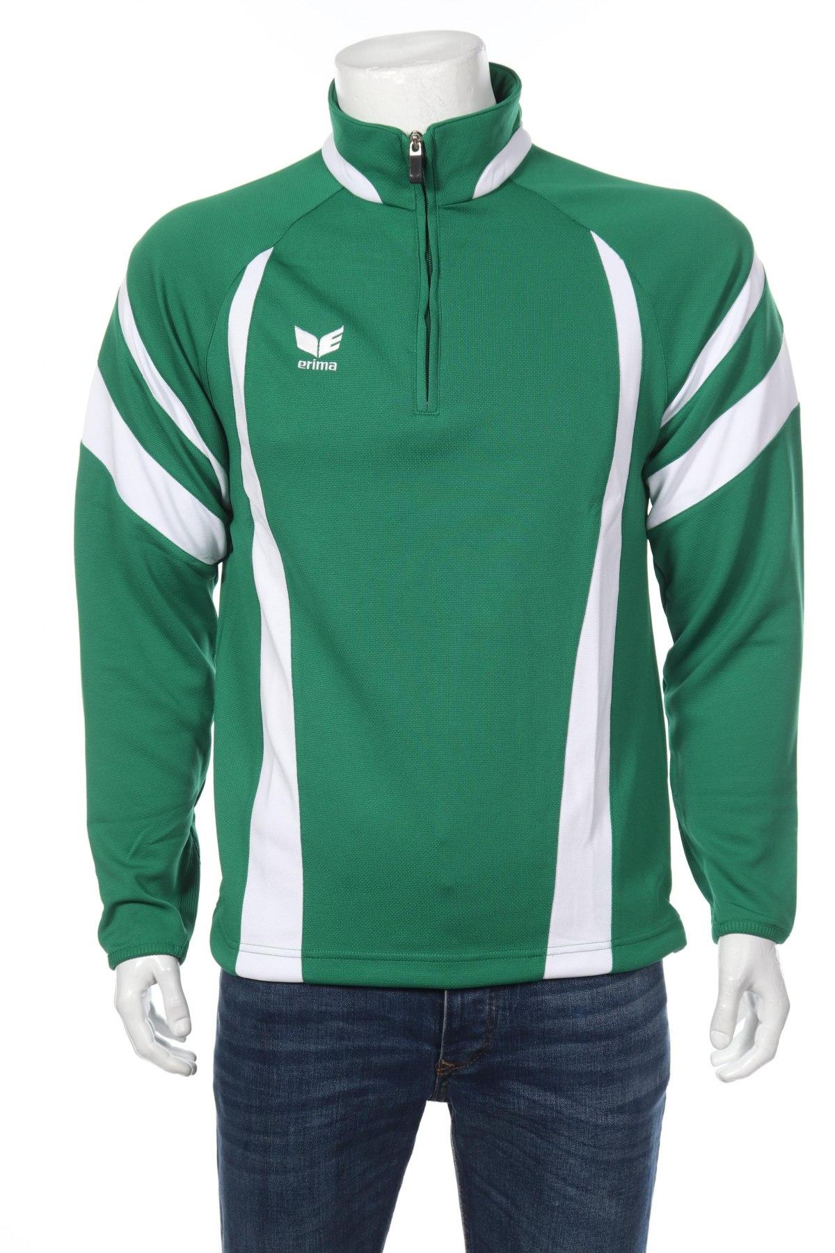 Мъжка спортна блуза Erima, Размер M, Цвят Зелен, 100% полиестер, Цена 16,80лв.
