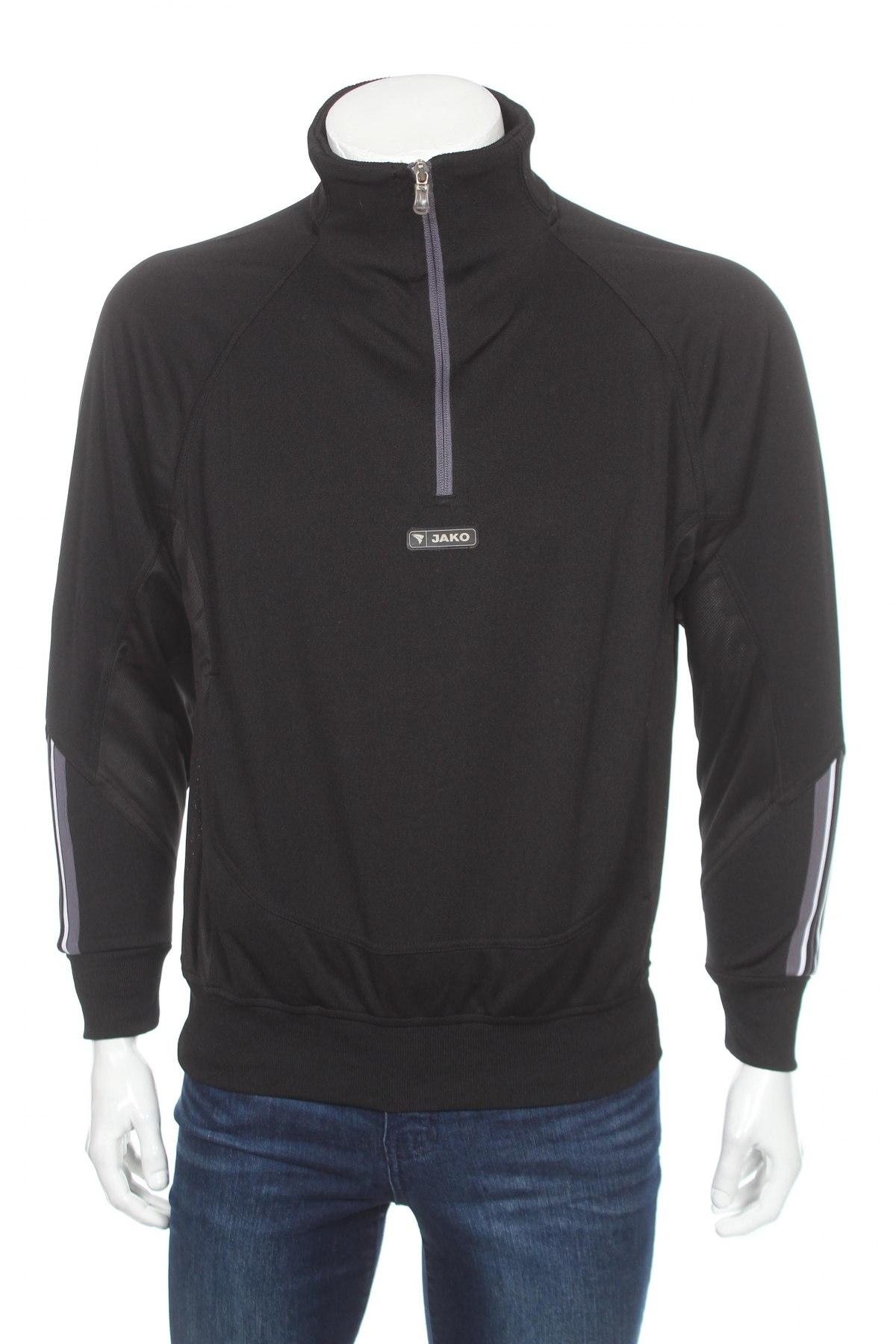 Мъжка спортна блуза Jako, Размер S, Цвят Черен, 100% полиестер, Цена 17,15лв.