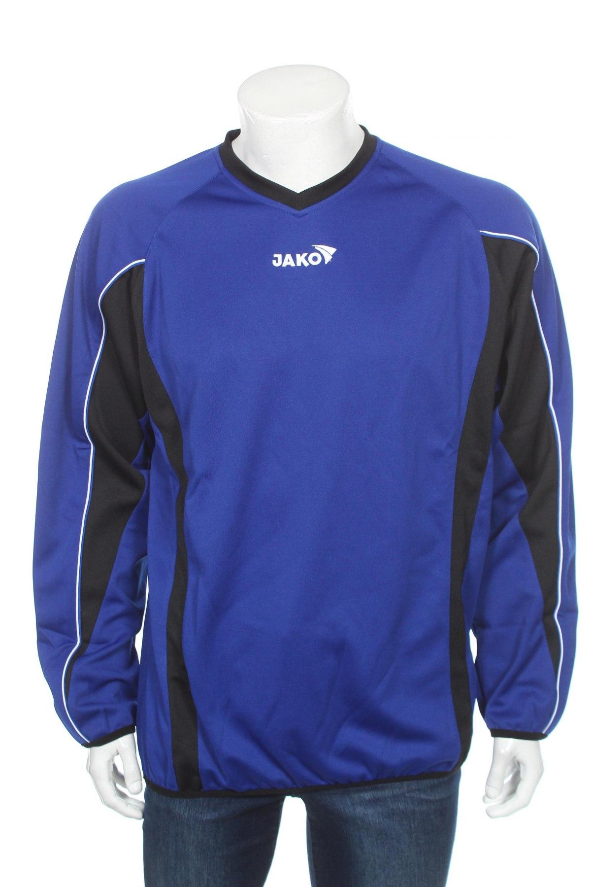 Мъжка спортна блуза Jako, Размер XL, Цвят Син, 100% полиестер, Цена 14,70лв.
