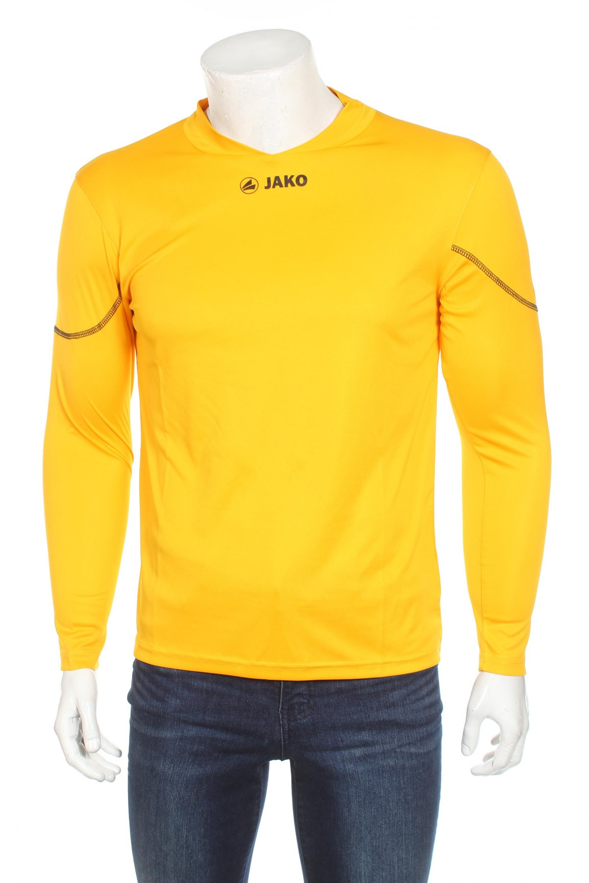 Мъжка спортна блуза Jako, Размер S, Цвят Жълт, 100% полиестер, Цена 11,40лв.
