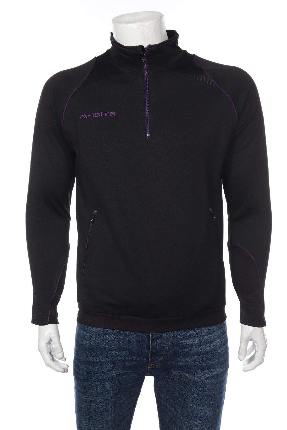 Мъжка спортна блуза Masita, Размер S, Цвят Черен, 100% полиестер, Цена 19,60лв.