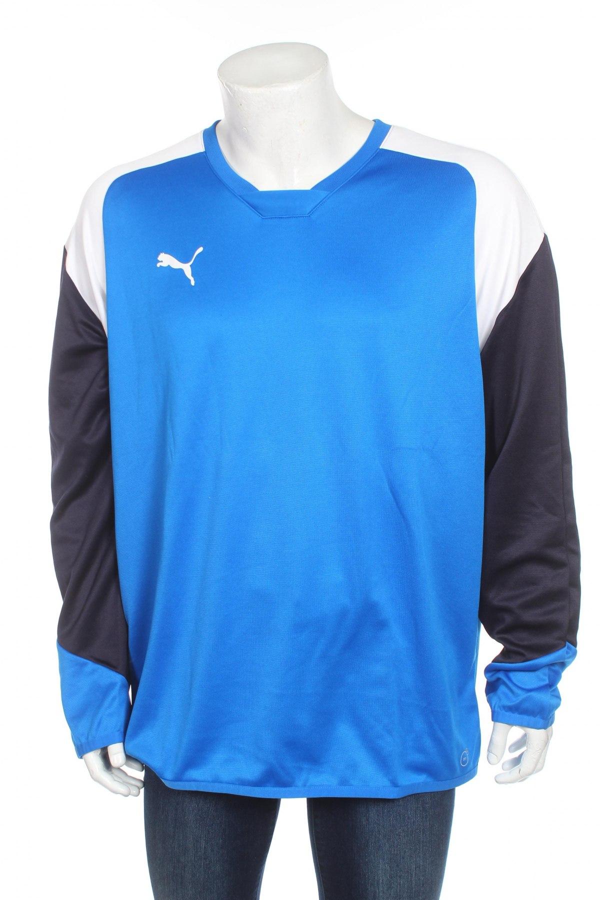 Мъжка спортна блуза PUMA, Размер XL, Цвят Син, 100% полиестер, Цена 19,75лв.