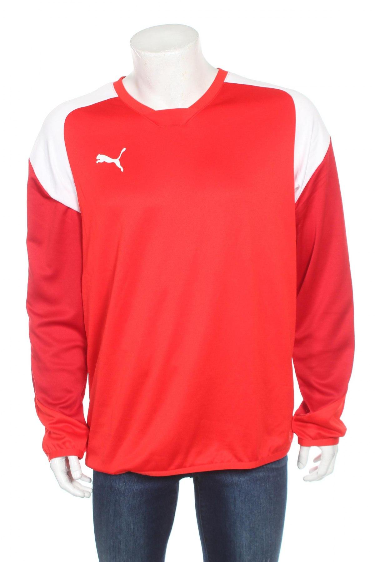 Мъжка спортна блуза PUMA, Размер L, Цвят Червен, 100% полиестер, Цена 23,70лв.