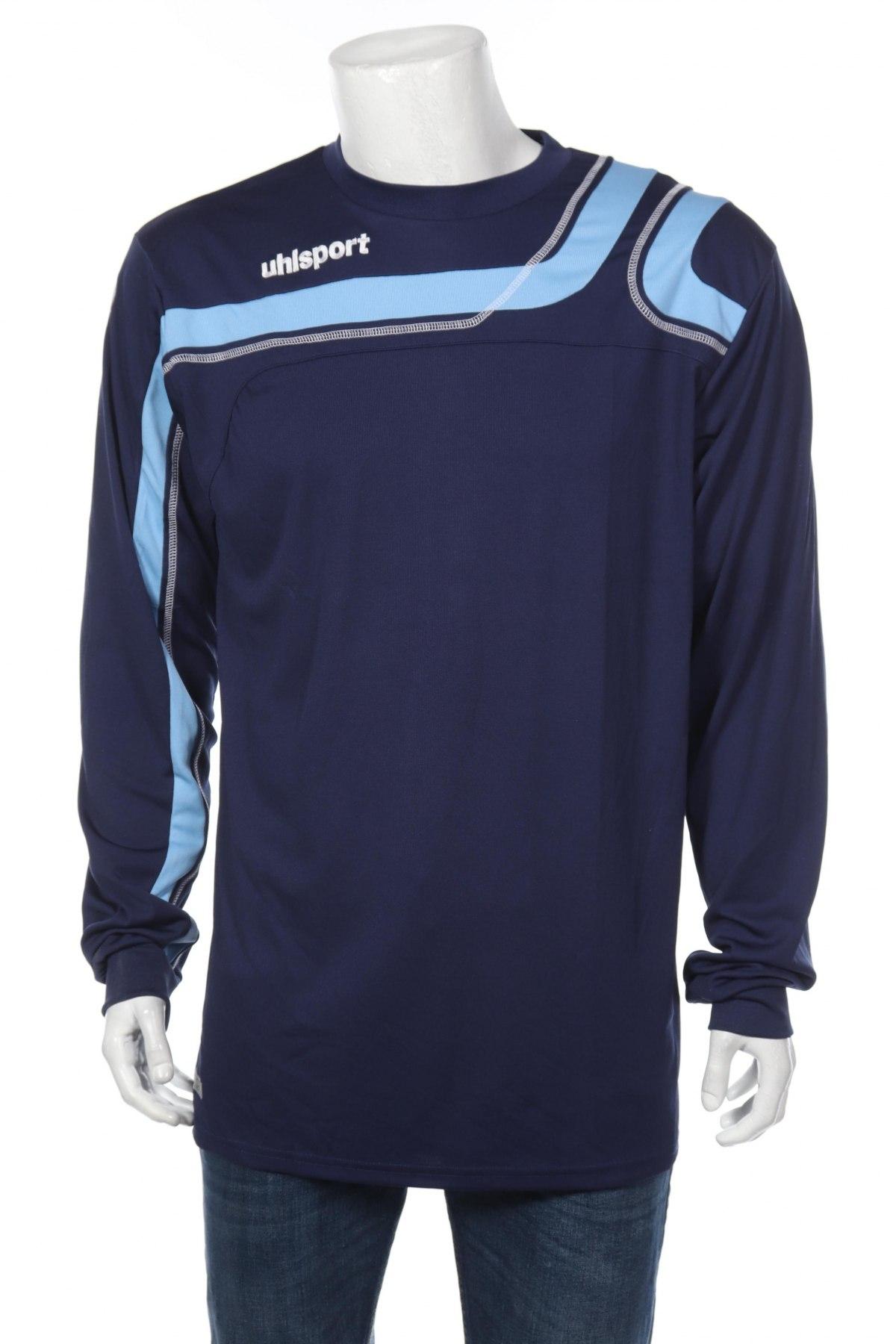 Мъжка спортна блуза Uhlsport, Размер XL, Цвят Син, 100% полиестер, Цена 17,15лв.
