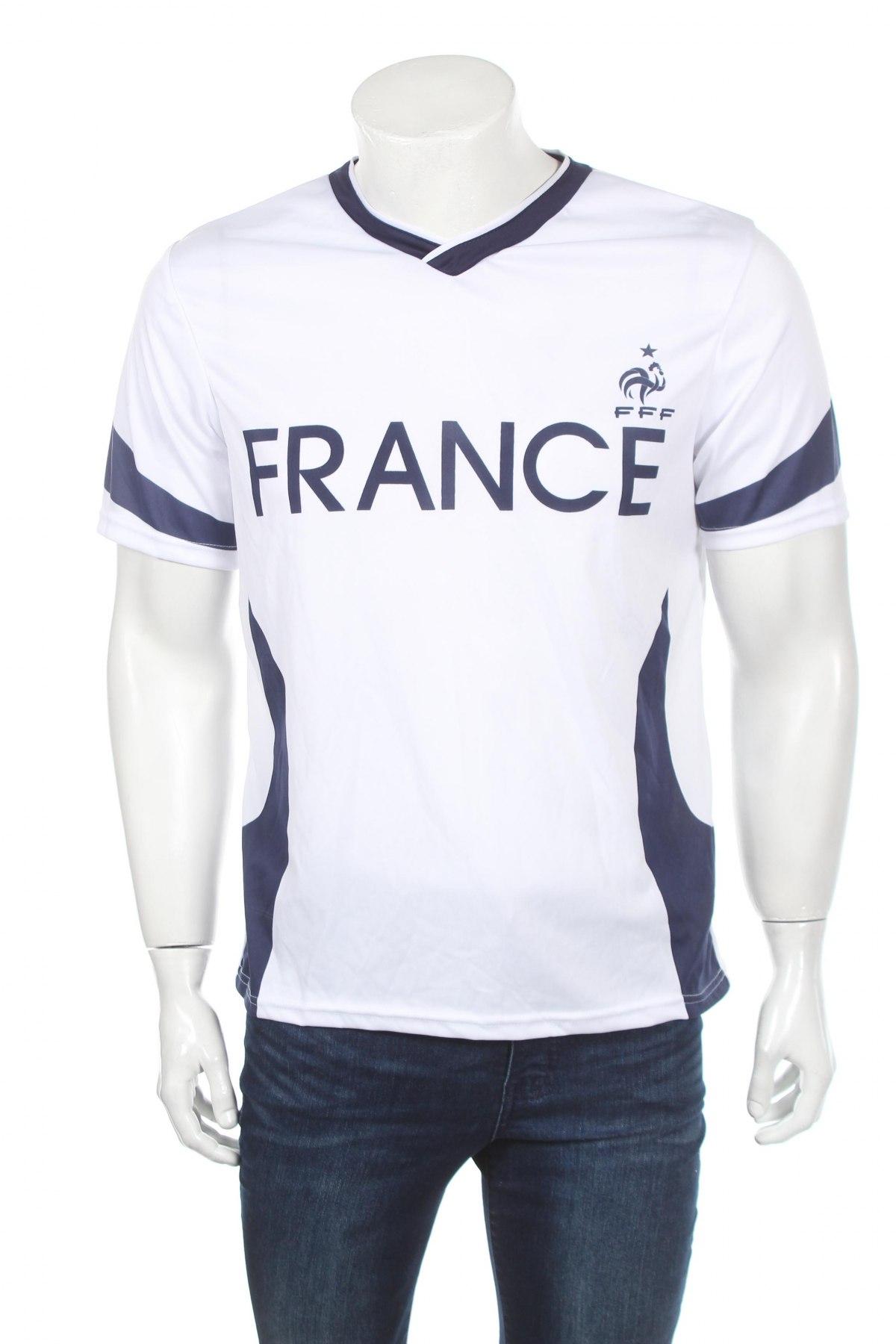 Мъжка тениска FFF France, Размер M, Цвят Бял, Полиестер, Цена 11,20лв.