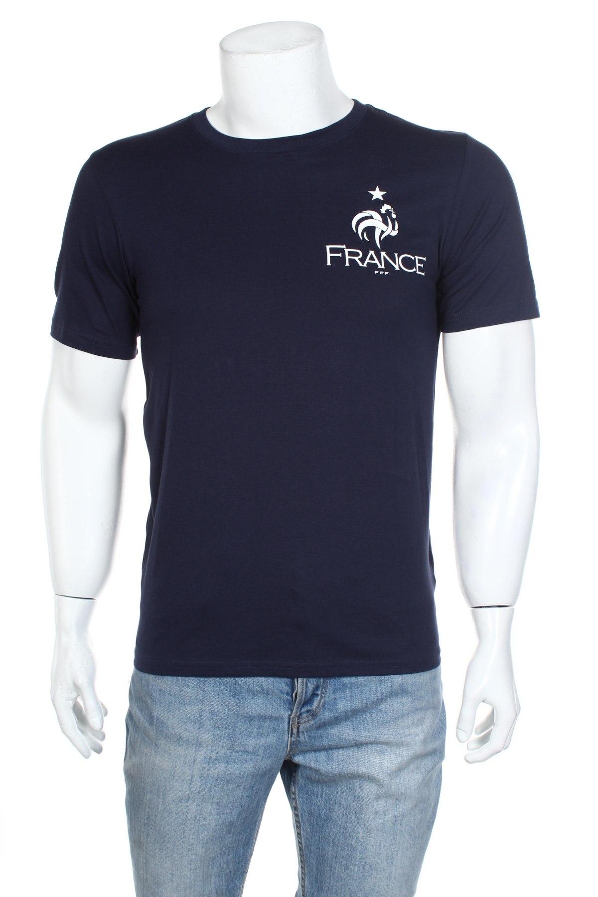 Мъжка тениска FFF France, Размер S, Цвят Син, Памук, Цена 11,70лв.