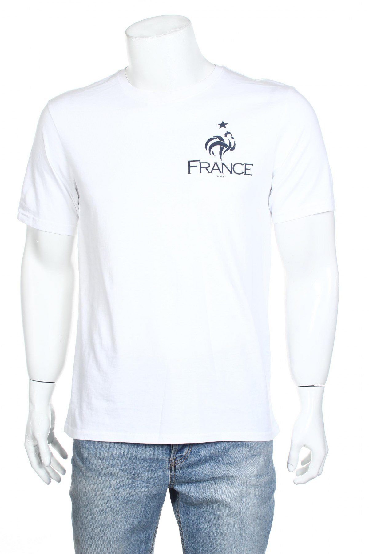 Мъжка тениска FFF France, Размер M, Цвят Бял, Памук, Цена 11,70лв.