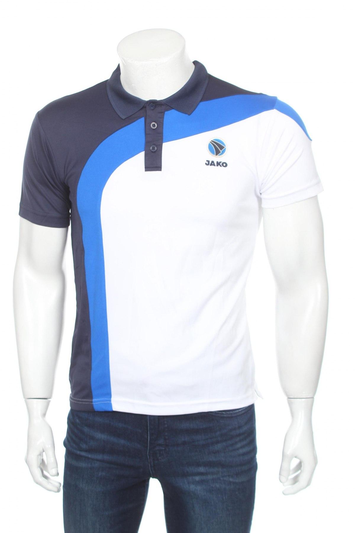 Мъжка тениска Jako, Размер S, Цвят Бял, Полиестер, Цена 10,40лв.