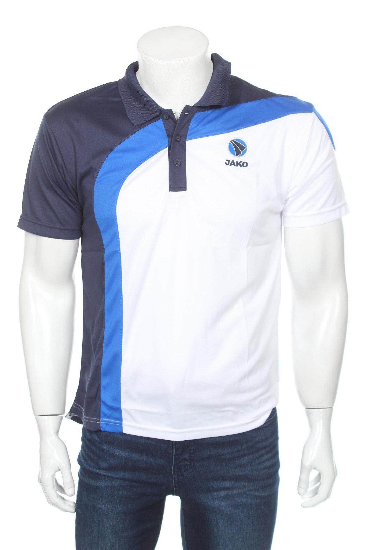 Мъжка тениска Jako, Размер M, Цвят Бял, Полиестер, Цена 11,70лв.