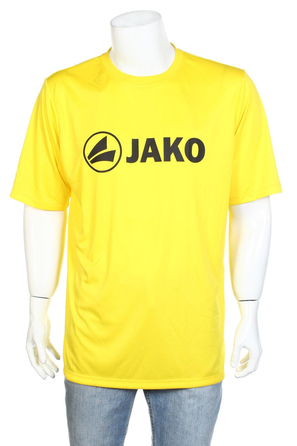 Мъжка тениска Jako, Размер XXL, Цвят Жълт, Полиестер, Цена 12,80лв.