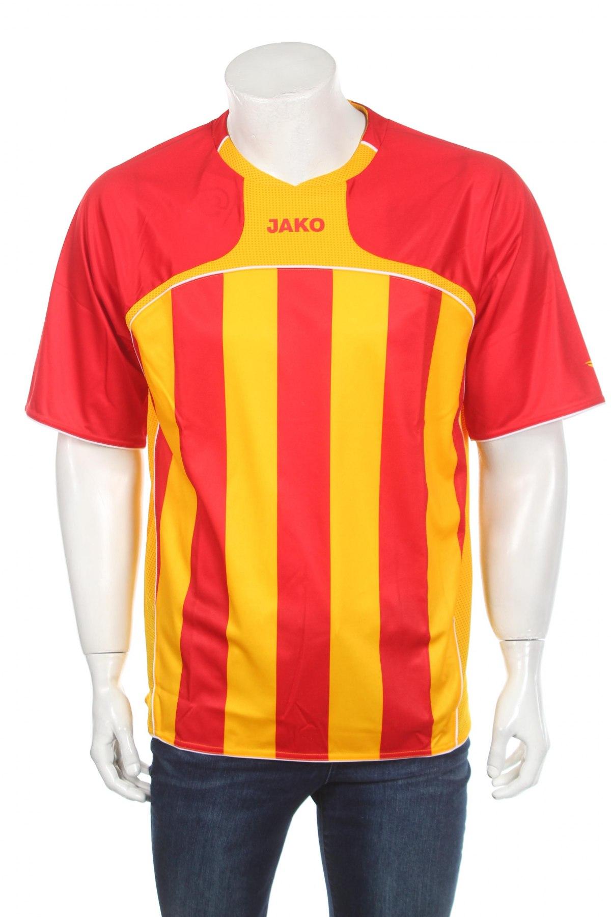 Мъжка тениска Jako, Размер XL, Цвят Червен, Полиестер, Цена 9,60лв.