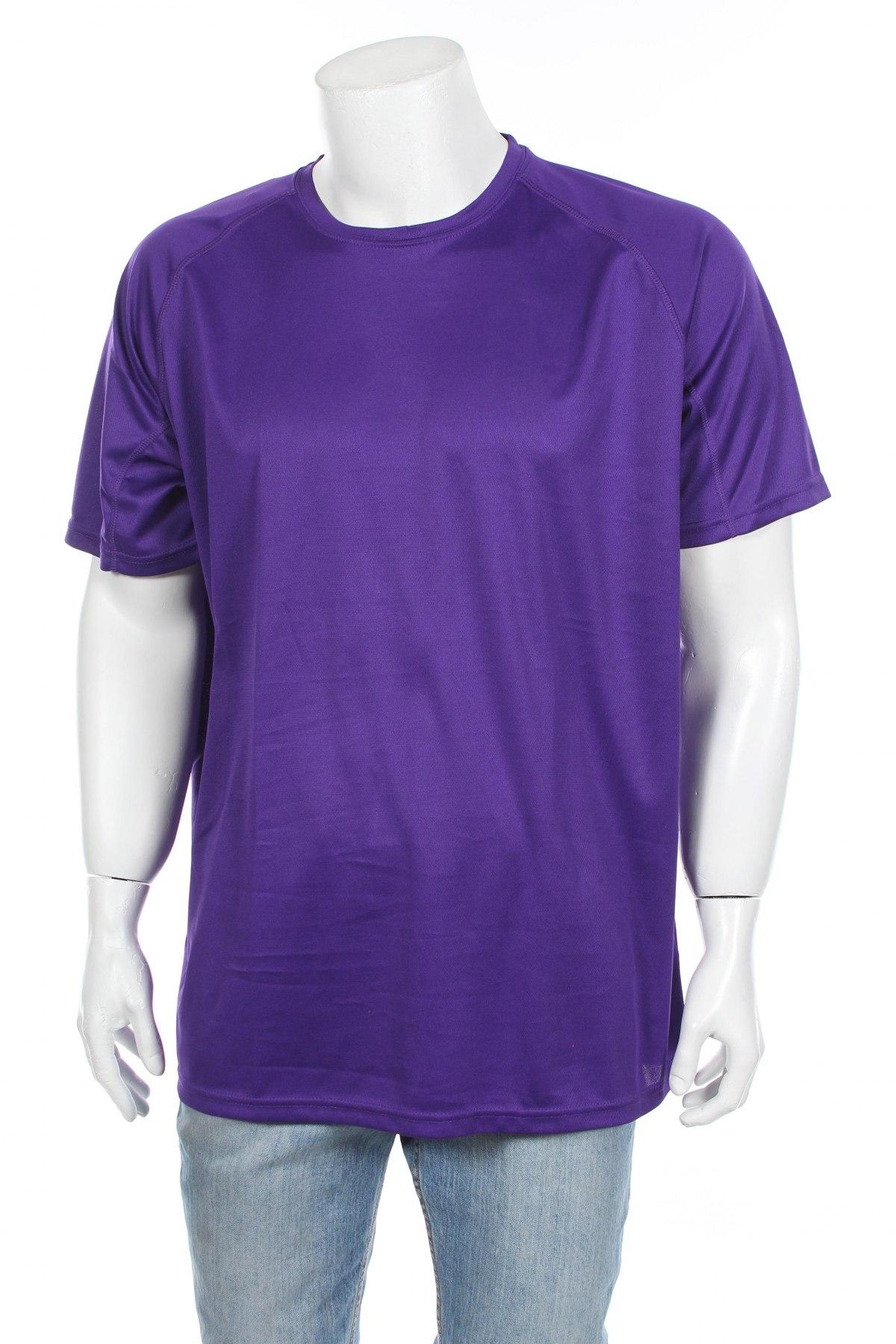 Мъжка тениска Spiro, Размер XXL, Цвят Лилав, Полиестер, Цена 11,20лв.
