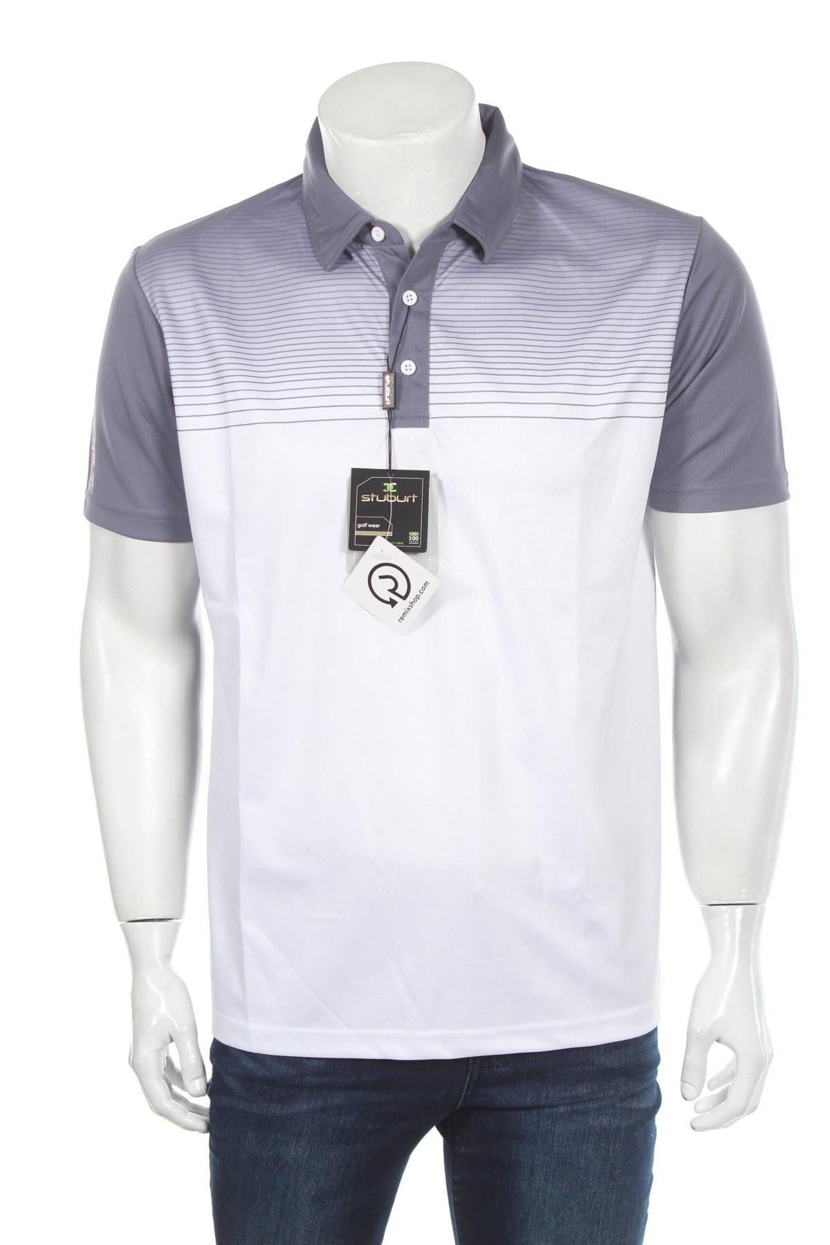 Мъжка тениска Stuburt, Размер M, Цвят Сив, Полиестер, Цена 24,00лв.