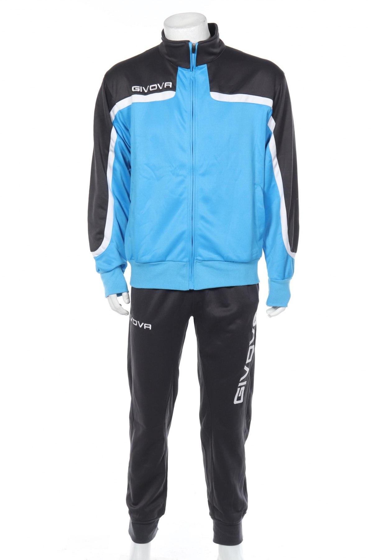 Мъжки спортен екип Givova, Размер L, Цвят Сив, 85% полиестер, 15% памук, Цена 56,07лв.
