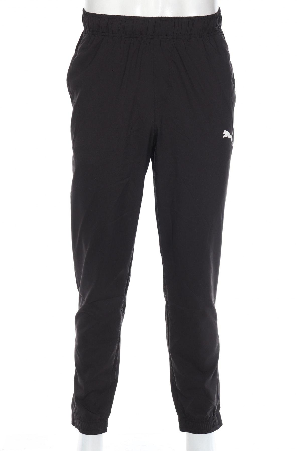 Мъжко спортно долнище PUMA, Размер S, Цвят Черен, Полиестер, Цена 34,30лв.