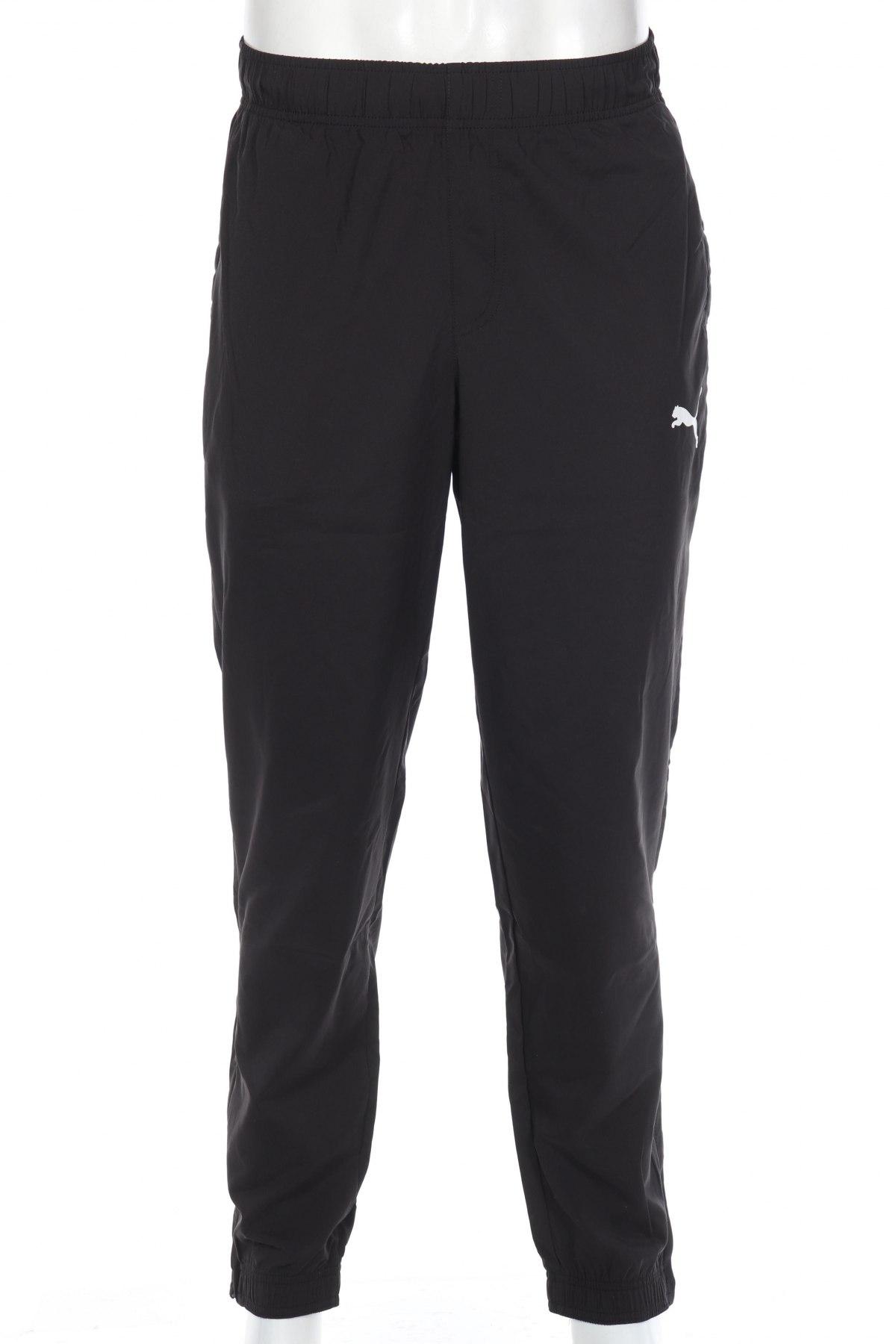 Мъжко спортно долнище PUMA, Размер M, Цвят Черен, Полиестер, Цена 34,30лв.