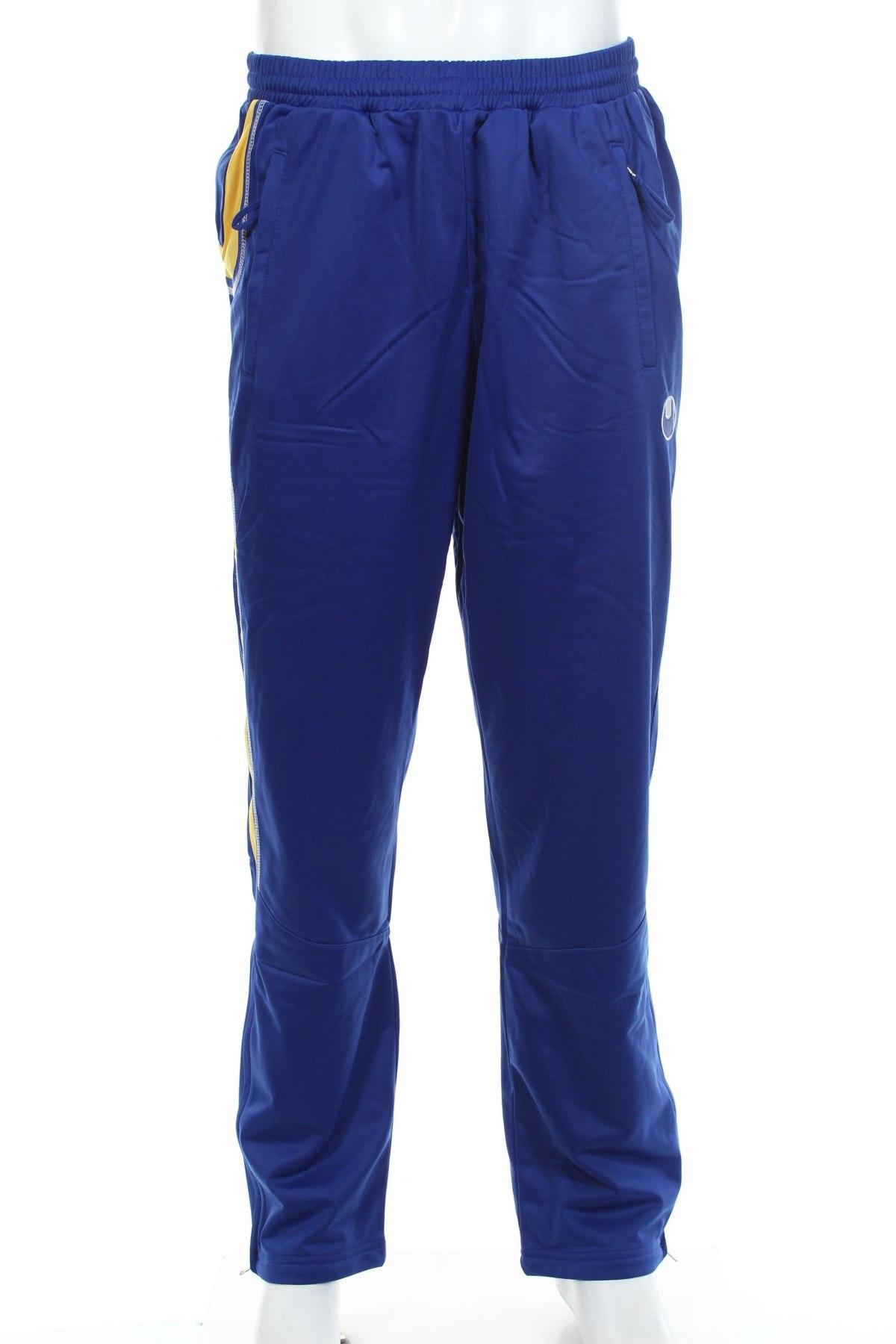 Мъжко спортно долнище Uhlsport, Размер XL, Цвят Син, Полиестер, Цена 14,70лв.