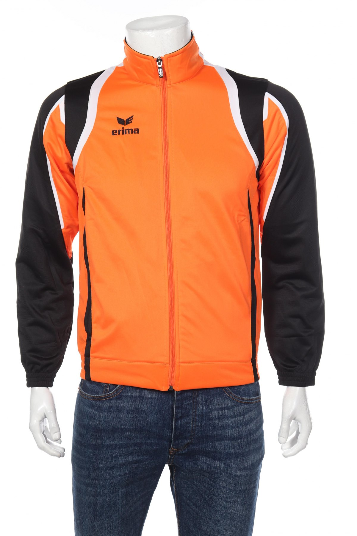 Мъжко спортно горнище Erima, Размер S, Цвят Оранжев, Полиестер, Цена 23,70лв.