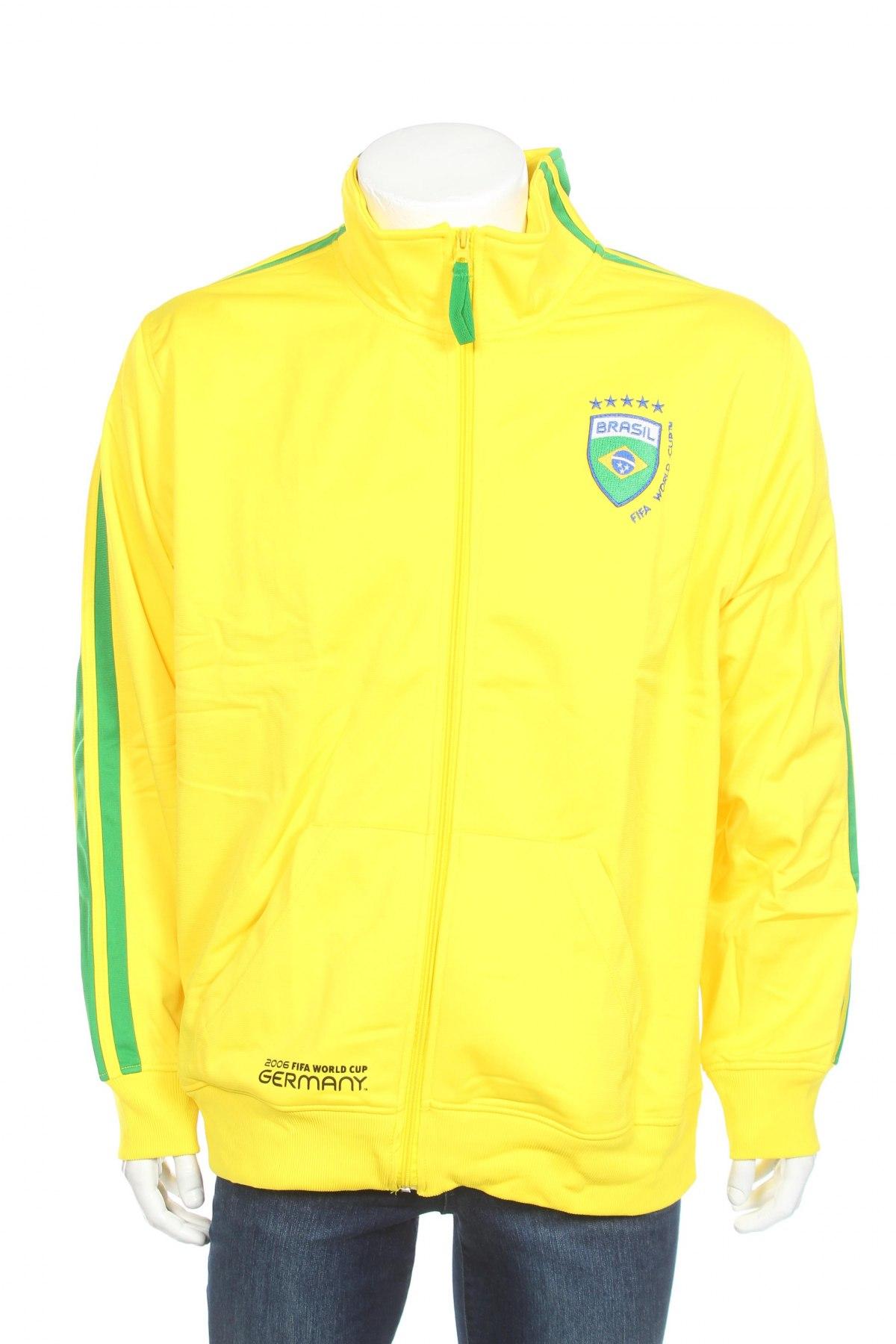 Мъжко спортно горнище Germany, Размер XL, Цвят Жълт, Полиестер, Цена 11,70лв.