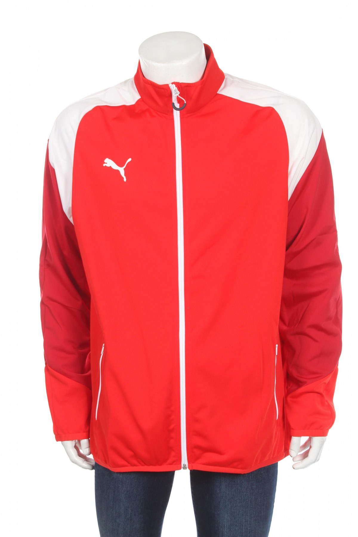 Мъжко спортно горнище PUMA, Размер XL, Цвят Червен, Полиестер, Цена 27,25лв.