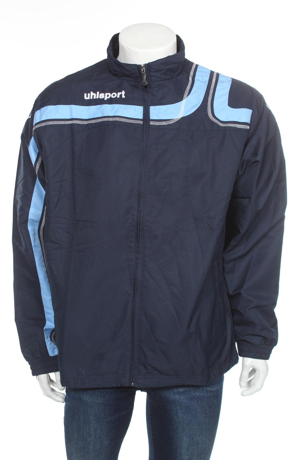 Мъжко спортно горнище Uhlsport, Размер XL, Цвят Син, Полиестер, Цена 24,15лв.