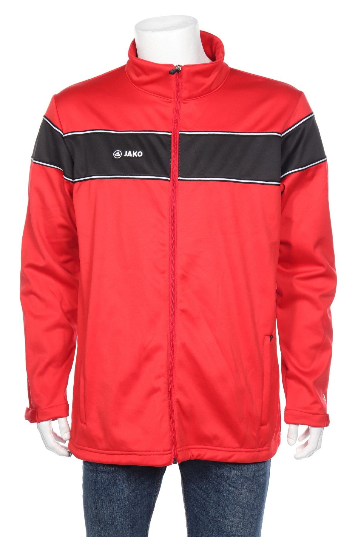 Мъжко спортно яке Jako, Размер XL, Цвят Червен, Полиестер, Цена 23,40лв.