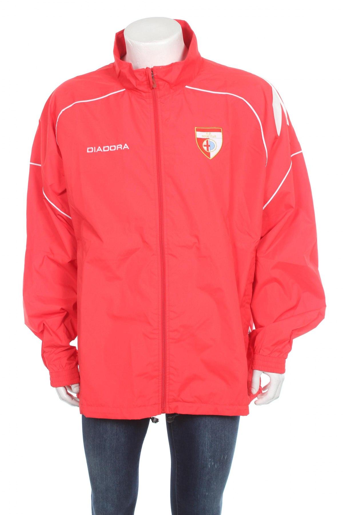 Мъжко яке Diadora, Размер XL, Цвят Червен, Полиестер, Цена 26,70лв.