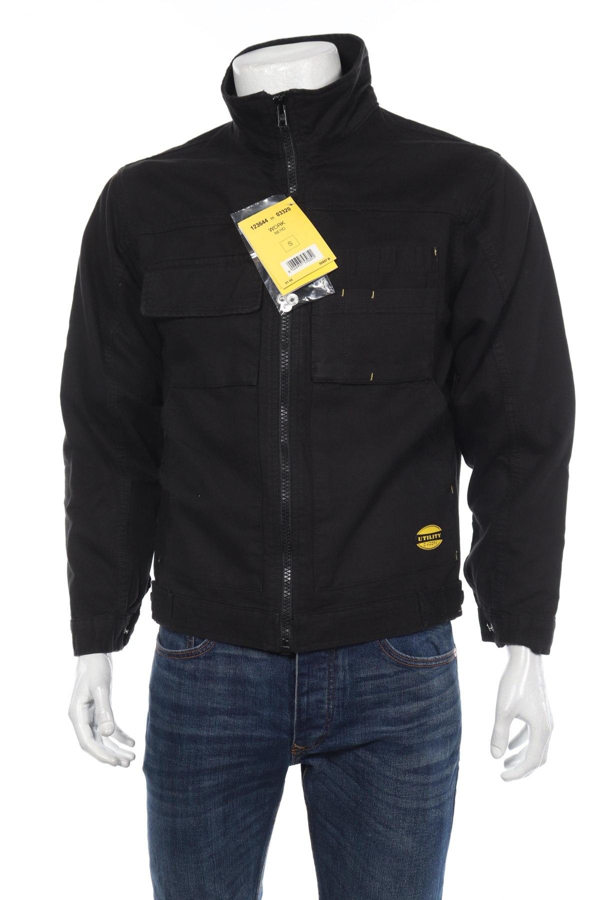 Мъжко яке Diadora, Размер S, Цвят Черен, Памук, Цена 21,60лв.