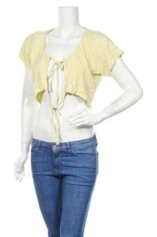 Болеро Pretty Little Thing, Размер XL, Цвят Жълт, 70% вискоза, 30% лен, Цена 26,46лв.