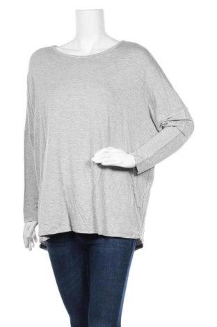 Дамска блуза, Размер L, Цвят Сив, Вискоза, памук, еластан, Цена 6,27лв.