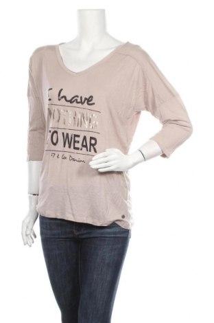 Дамска блуза 17 & Co., Размер M, Цвят Бежов, 100% модал, Цена 9,82лв.