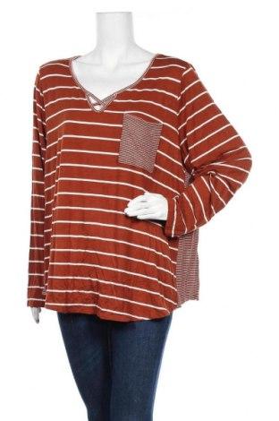 Γυναικεία μπλούζα A.N.A., Μέγεθος XXL, Χρώμα Καφέ, 97% βισκόζη, 3% ελαστάνη, Τιμή 11,72€