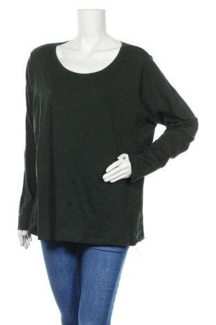 Γυναικεία μπλούζα A.N.A., Μέγεθος XXL, Χρώμα Πράσινο, 57% βαμβάκι, 38% μοντάλ, 5% ελαστάνη, Τιμή 7,18€