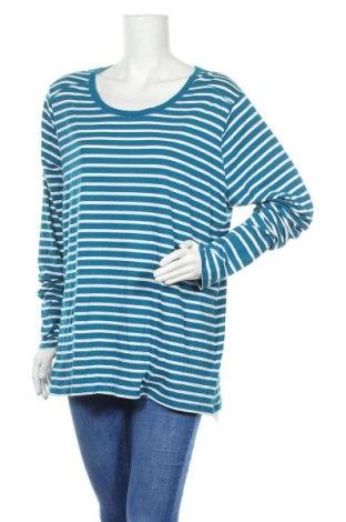 Γυναικεία μπλούζα A.N.A., Μέγεθος XXL, Χρώμα Μπλέ, 57% βαμβάκι, 38% μοντάλ, 5% ελαστάνη, Τιμή 9,87€