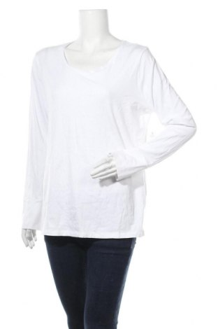 Γυναικεία μπλούζα A.N.A., Μέγεθος XL, Χρώμα Λευκό, 57% βαμβάκι, 38% μοντάλ, 5% ελαστάνη, Τιμή 6,24€